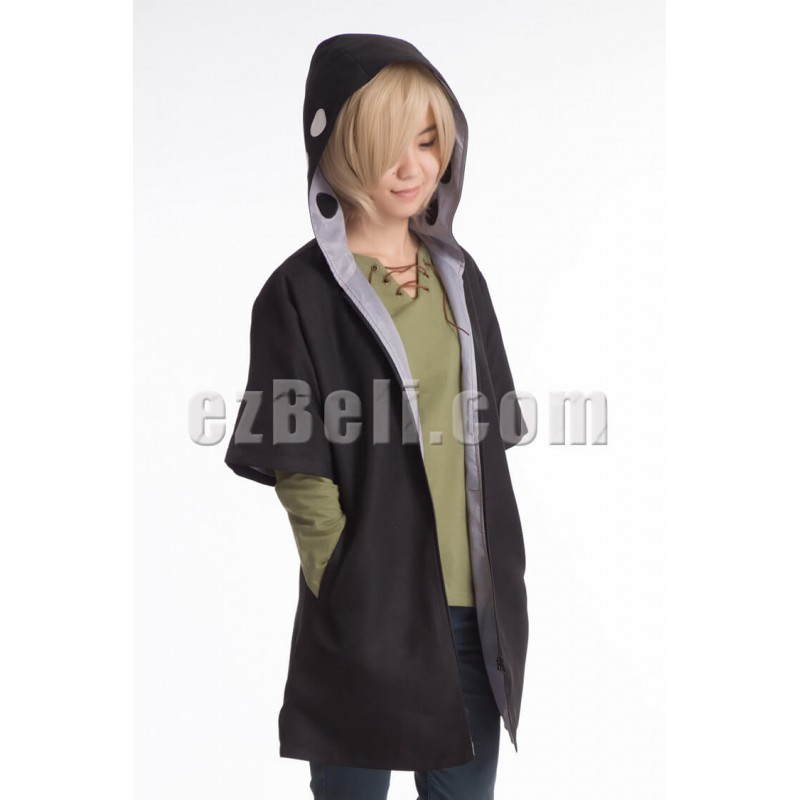 New! Vocaloid Heat Haze Project (Kagerou Project) Shuuya Kano Cosplay Short Sleeve Hoodie Cloak