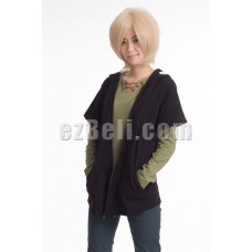 New! Vocaloid Heat Haze Project (Kagerou Project) Shuuya Kano Cosplay Short Sleeve Hoodie Jacket