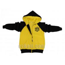 One Piece Trafalgar Law Vice Fairy Yellow Black Hoodie Jacket