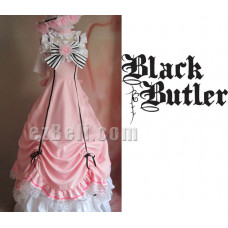 Black Butler Kuroshitsuji Ciel Phantomhive Genderbend Pink Party Dress