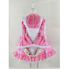 Lolita Black & White / Pink & white Sweet Cute Maid Dress