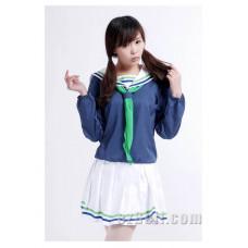 Kuroko no Basuke Riko Aida Dark Blue Cosplay Costume