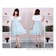 Inu x Boku SS Shirakiin Ririchiyo Light Blue Cosplay Dress