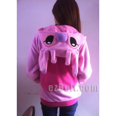 Stitch! Angel pink stitch Hoodie Jacket