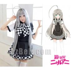 Haiyore! Nyaruko-san Nyaruko Silver Gray Cosplay Wig