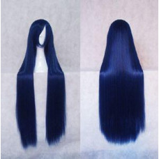 Straight Long Wig 100CM Black Blue
