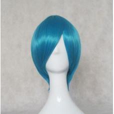 Cosplay Wig - Long Fringe Short Wig - Blue