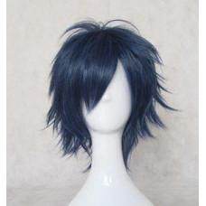 Uta no Prince-sama Ichinose Tokiya / Blue Exorcist Rin Okumura Blue mix black Cosplay Wig