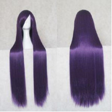 Straight Long Wig 100CM Dark Purple