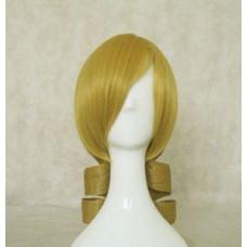 Puella Magi Madoka Magica Tomoe Mami Blonde Curly Tail Cosplay Wig