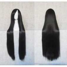 Straight Long Wig 100CM Black