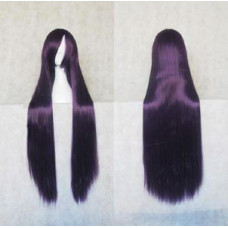 Straight Long Wig 100CM Purple Black