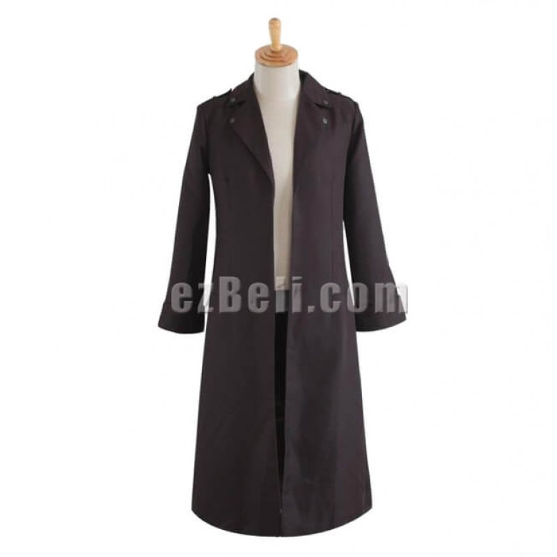 New! Attack on Titan 反撃 の 翼 (Shingeki no Kyojin) The Recon Corp Eren & Levi & Mikasa Long Coat Cosplay Costume