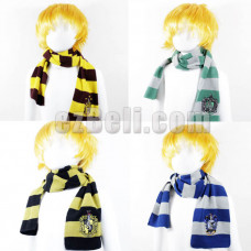 New! Harry Potter Gryffindor Hufflepuff Ravenclaw Slytherin Knit Scarf Cosplay Costume