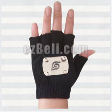 New! Naruto Hatake Kakashi Cosplay Gloves with Leaf Village Symbol
