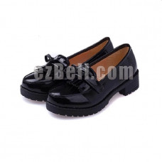 New! Hell Girl Lolita Anime Black PU Leather Cosplay Shoes