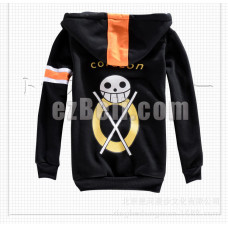 New! One Piece Corazon Cosplay Hoodie Jacket