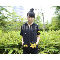 New! One Piece Trafalgar Law Short Sleeves Jacket