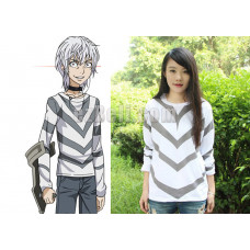 New! To Aru Majutsu no Index Accelerator Renewal White Long Sleeve T-shirt Cosplay Costume