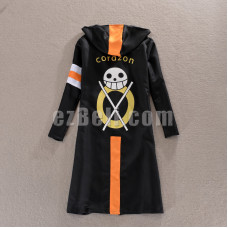 New! One Piece Trafalgar Law Corazon Coat Cloak Cosplay Costume