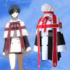 New! Anime Black Bulter Kuroshitsuji Ciel Phantomhive Church Uniform Outfit Cosplay Costume Formal Dress