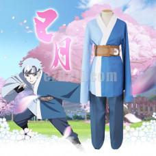 New! Anime Boruto Naruto the Movie Son of Orochimaru Mitsuki Kimono Cosplay Costume Full Set Yukata
