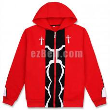 New! Anime Fate/Stay Night Archer Shirō Emiya Hoodies Cosplay Red Hooded Jacket