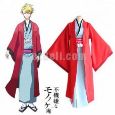 New! Anime Fukigen na Mononokean The Morose Mononokean Haruitsuki Abeno Kimono Cosplay Costume