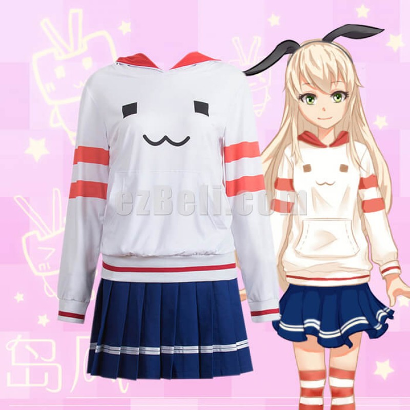New! Kantai Collection Shimakaze Casual Cosplay Hoodies Pullover Sweatshirts