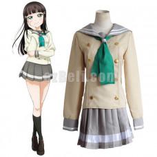 New! Love Live! Sunshine Aqours Kurosawa Dia School Uniform Sailor Suit Cosplay Costume