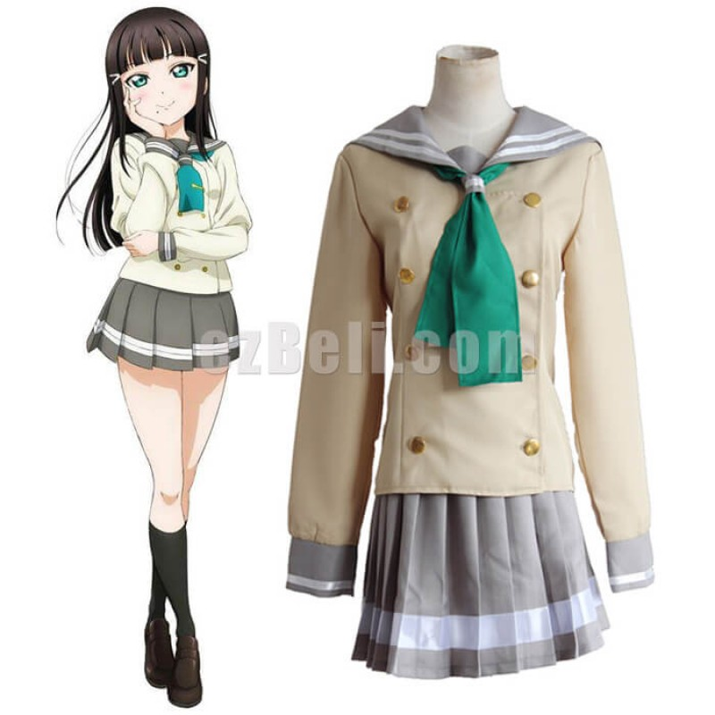 New! Love Live! Sunshine Aqours Kurosawa Dia School Uniform Sailor Suit Cosplay Costume