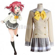 New! Love Live! Sunshine Aqours Kurosawa Ruby School Uniform Sailor Suit Cosplay Costume