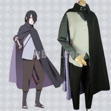 New! Anime Naruto the Movie The Last Uchiha Sasuke Cosplay Costume