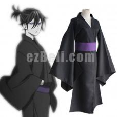 New! Anime Noragami Yato Black Yukata Cosplay Costume