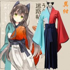 New! Anime Urara Meirocho Kon Tatsumi Japanese Kimono Cosplay Costume