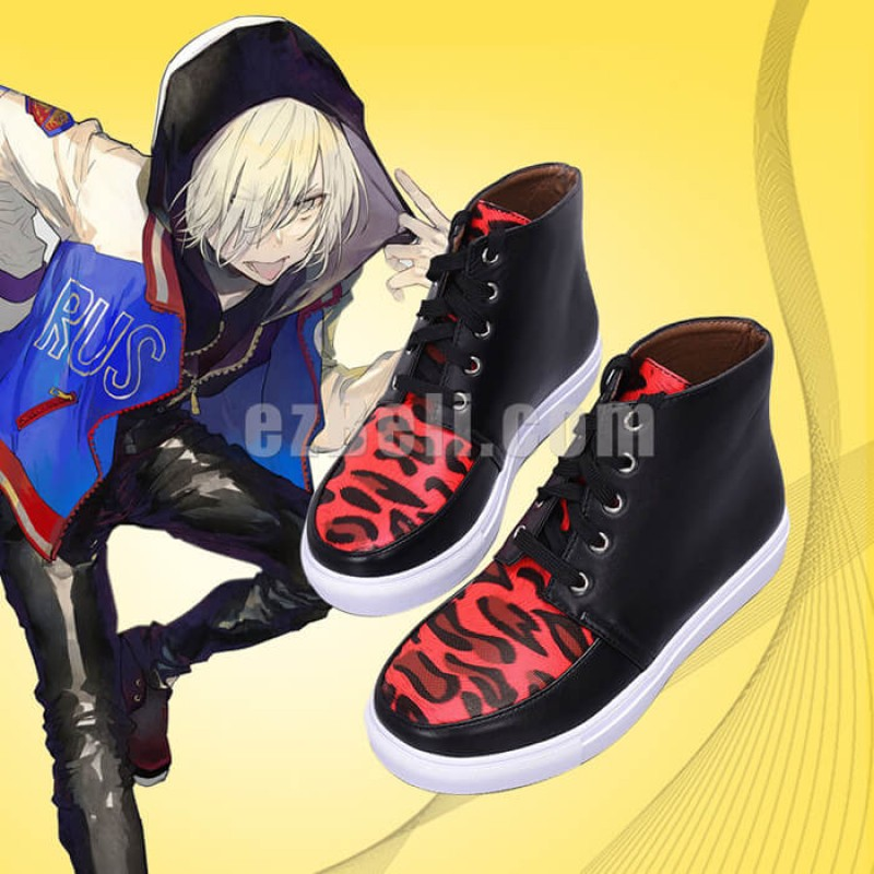 New! Anime Yuri!!! on Ice Yuri Plisetsky Cosplay Red Leopard Print Casual Shoes