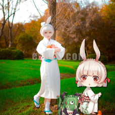 New! Anime Game Onmyouji Mountain Rabbit Kimono Cosplay Costume