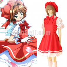 New! Anime Cardcaptor Sakura Kinomoto Herorine Princess Maid Lolita Dress Cosplay Costume
