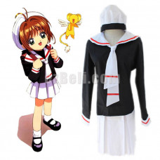 New! Anime Cardcaptor Sakura Herorine School Uniform Cosplay Costume Sailor Dress