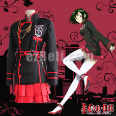 New! D.Gray-man Lenalee Lee Cosplay Costumes Red Black Women Uniform Cosplay Costume