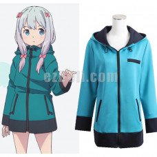 New! Eromanga Sensei Izumi Sagiri Blue Coat Jacket Hoodie Anime Cosplay Costume