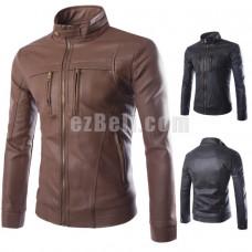 New! Fashion Leather Casual Biker Jacket