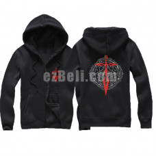 New! Fate Zero Black Zipper Hoodie Jacket