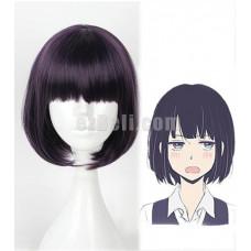 New! Anime Gugure! Kokkuri-san Kohina Ichimatsu Black Short Cosplay Wig