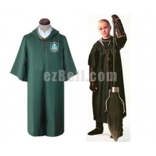 New! Harry Potter Slytherin Quidditch Robe Cosplay