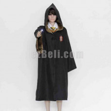 New! Harry Potter Robe Hufflepuff Cloak Yellow Cosplay Costume