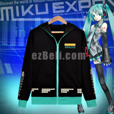 New! Vocaloid Hatsune Miku Long Sleeves Hoodie Jacket