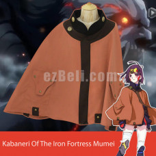 New! Kabaneri of the Iron Fortress Mumei Cloak Coat Cape Costume Cosplay