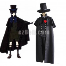 New! Anime Black Butler Kuroshitsuji Ciel Phantomhive Funerals Uniform Cosplay Costume