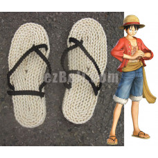 New! One Piece Monkey D. Luffy Cosplay Sandals Shoes